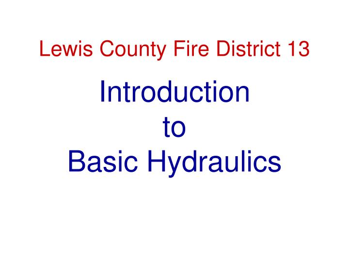 Lewis County Fire District 13