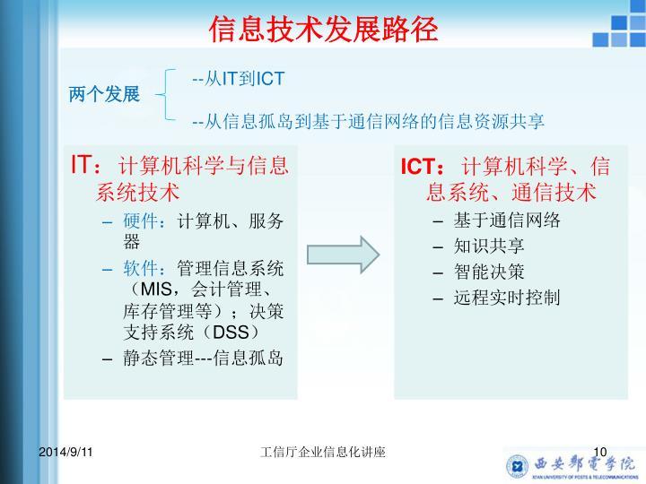 信息技术发展路径
