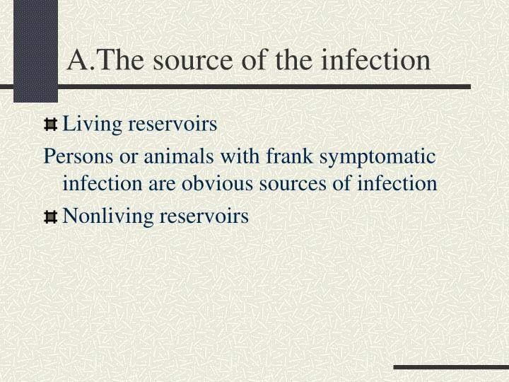 A.The source of the infection