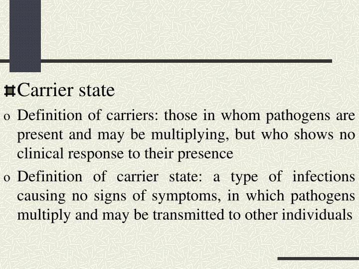 Carrier state