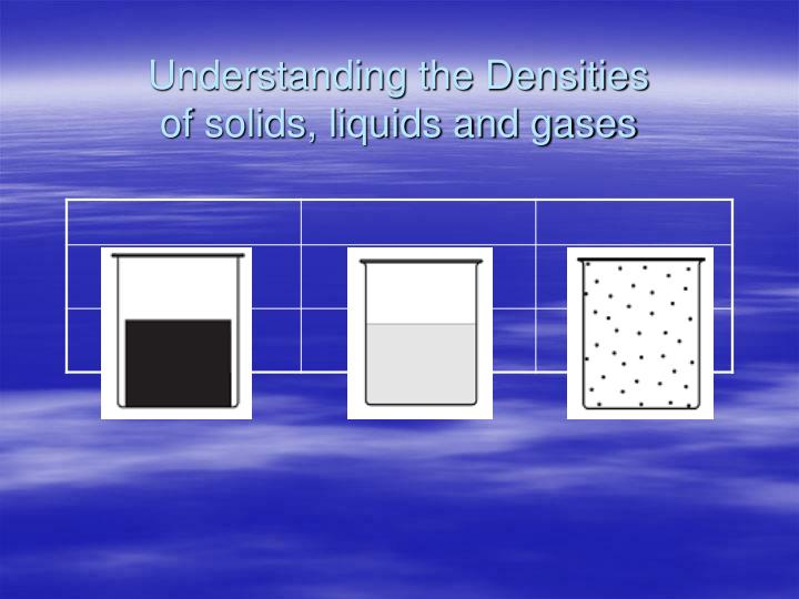 Understanding the Densities