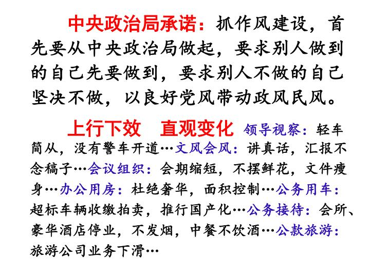 中央政治局承诺: