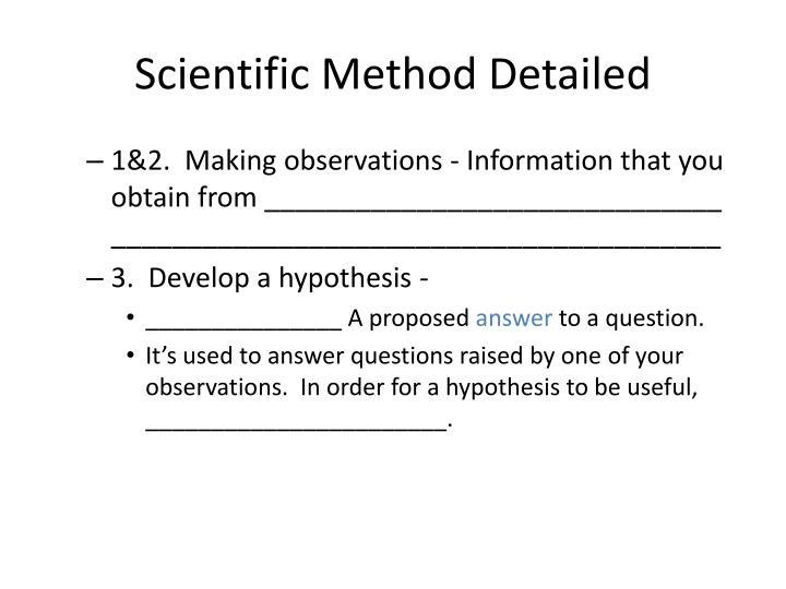 Scientific Method Detailed