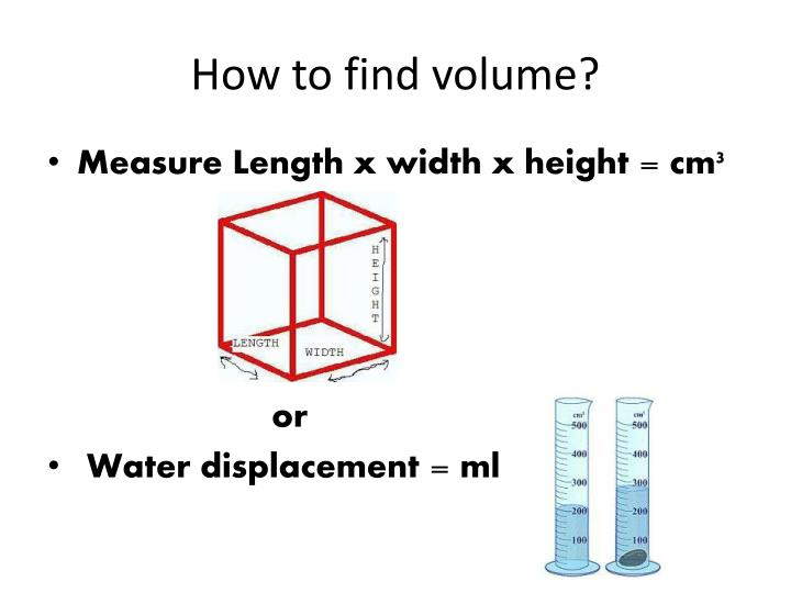 How to find volume?