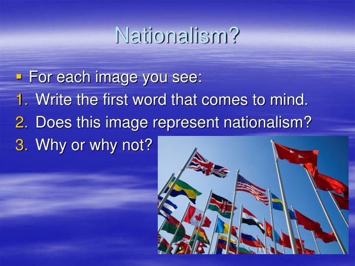 Nationalism?