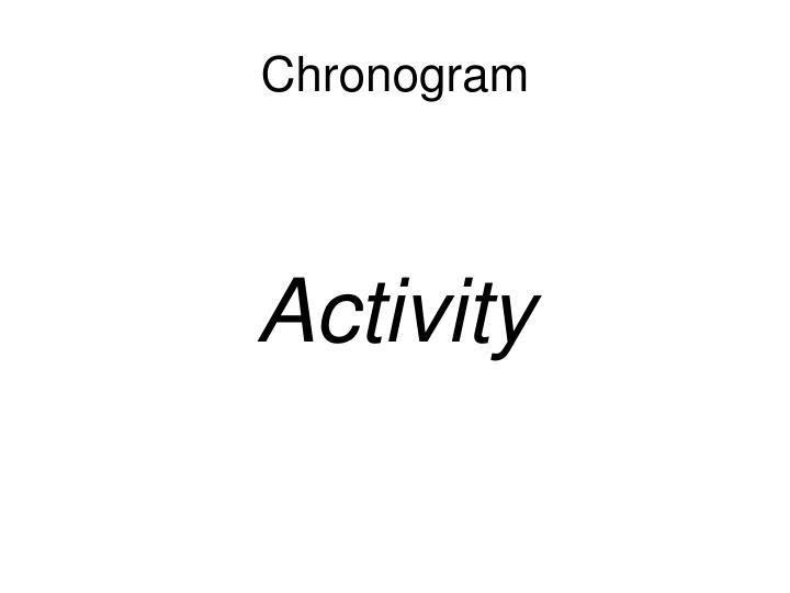 Chronogram