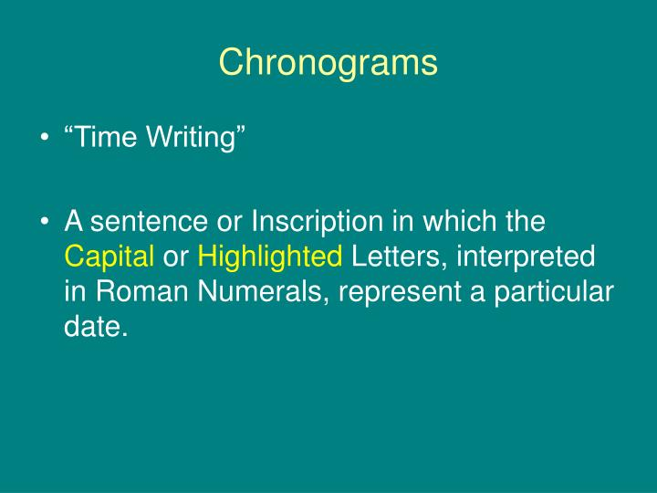 Chronograms