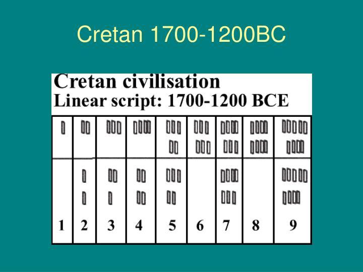 Cretan 1700-1200BC