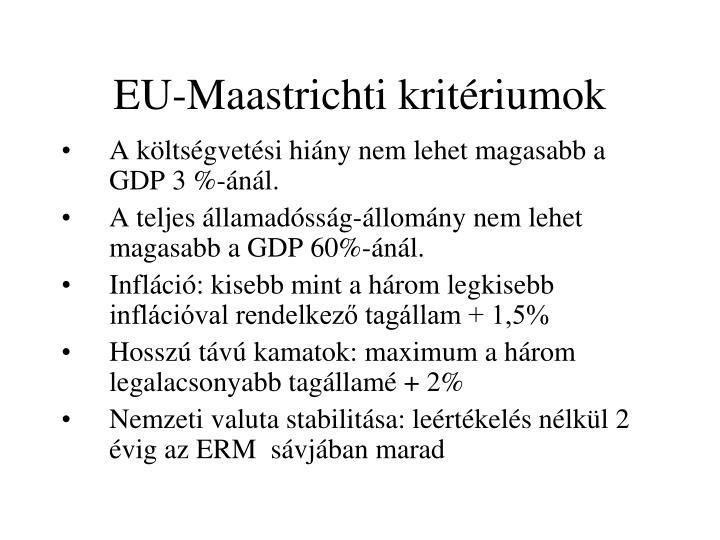 EU-Maastrichti kritériumok