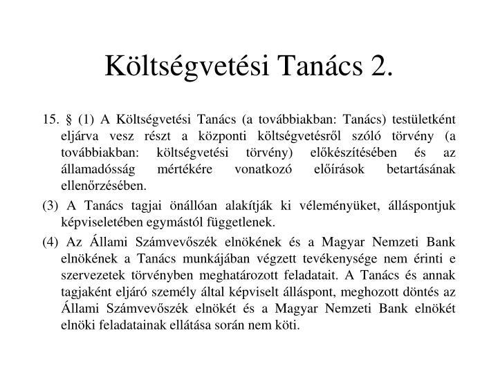 Költségvetési Tanács 2.