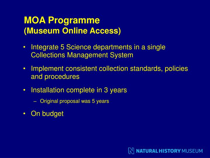 MOA Programme