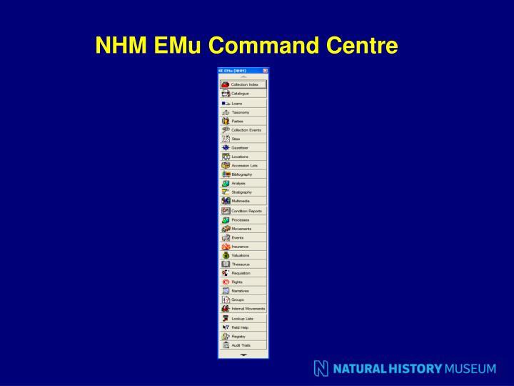 NHM EMu Command Centre