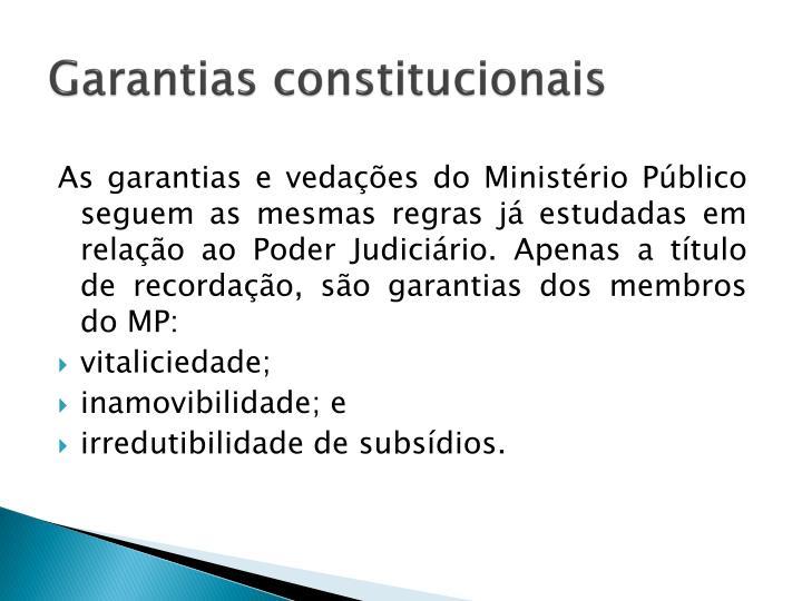 Garantias constitucionais
