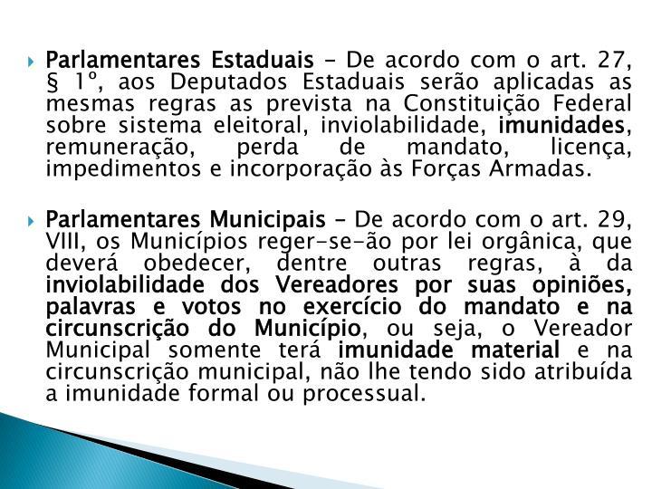 Parlamentares Estaduais –