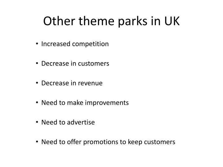 Other theme parks in UK