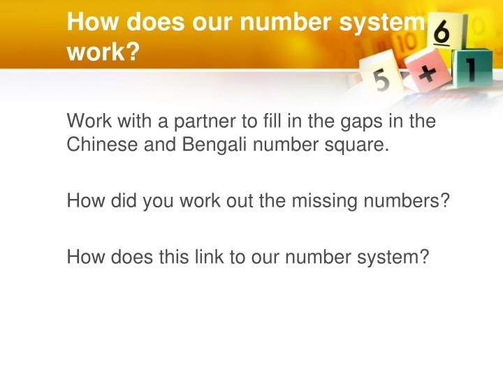 How does our number system work?