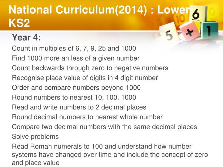 National Curriculum(2014) : Lower KS2