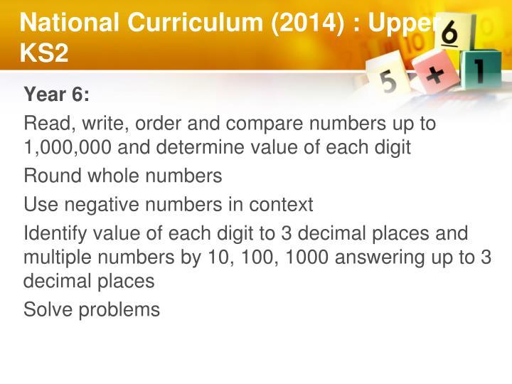 National Curriculum (2014) : Upper KS2