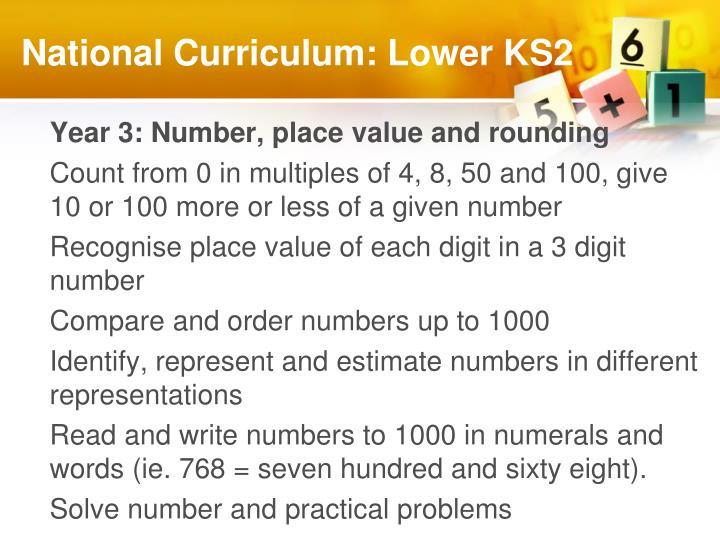 National Curriculum: Lower KS2