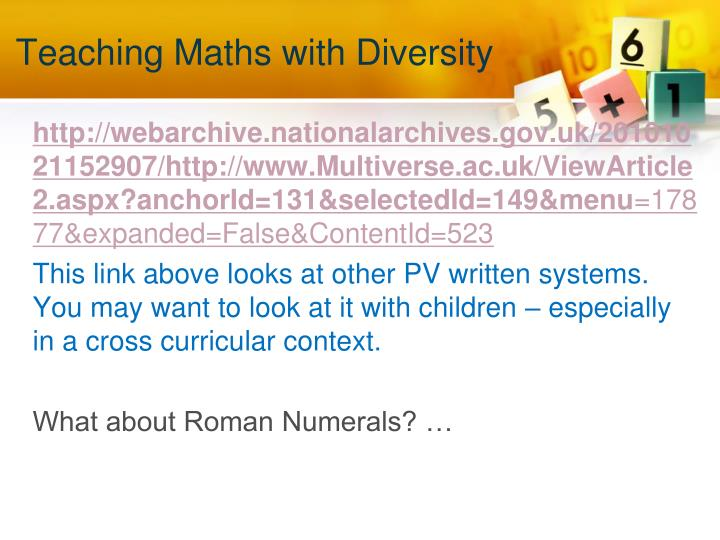 Teaching Maths with Diversity