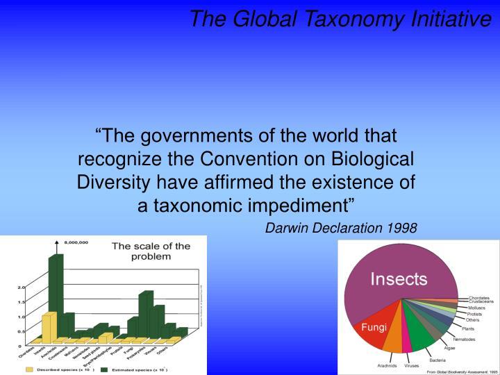 The Global Taxonomy Initiative