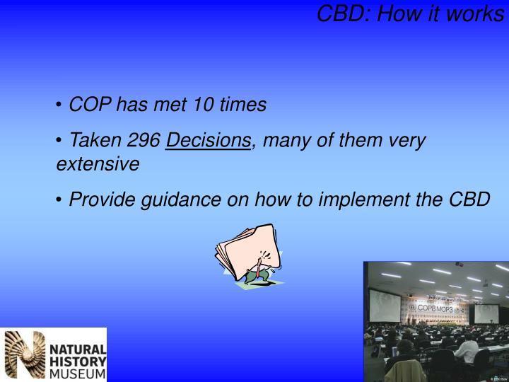 CBD: How it works