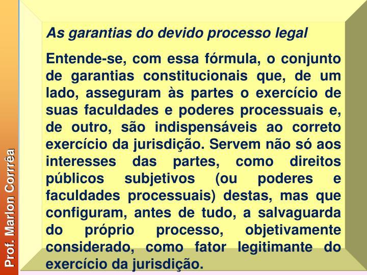 As garantias do devido processo legal