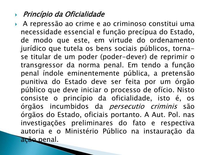 Princípio da Oficialidade