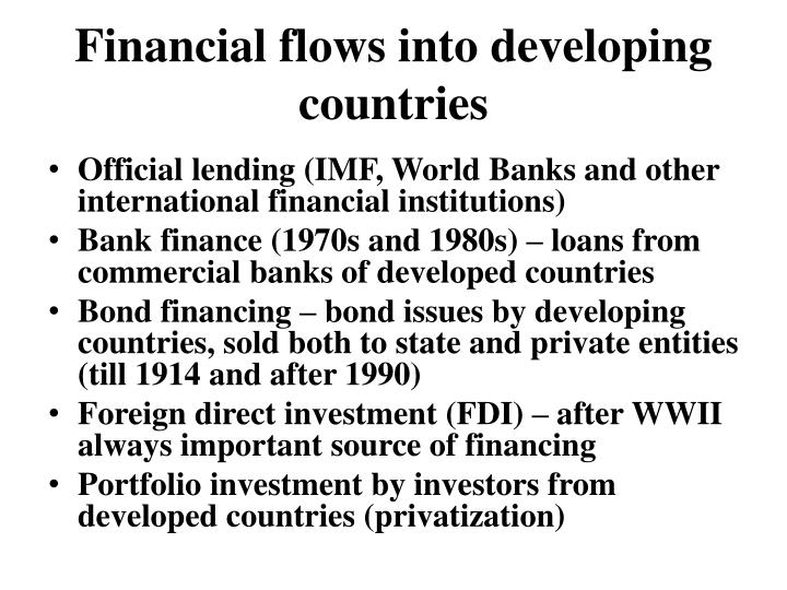 Financial flows into developing countries