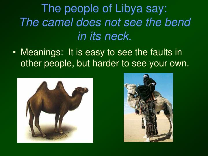 The people of Libya say: