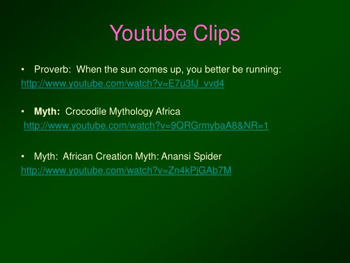 Youtube Clips