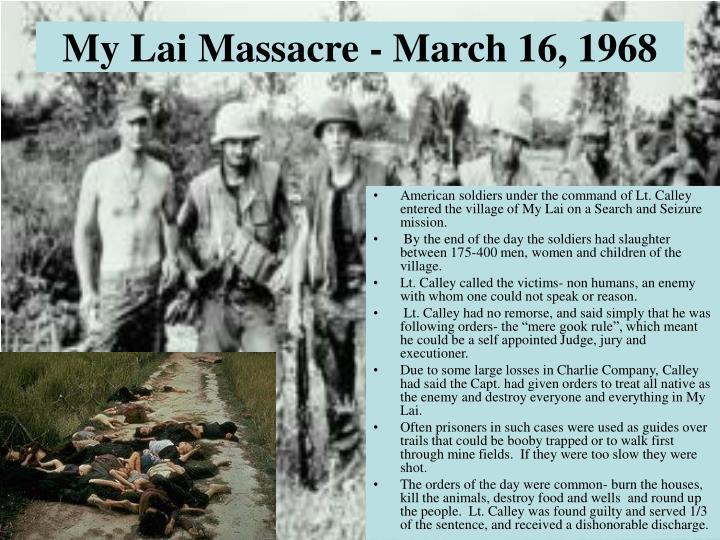 My Lai Massacre - March 16, 1968