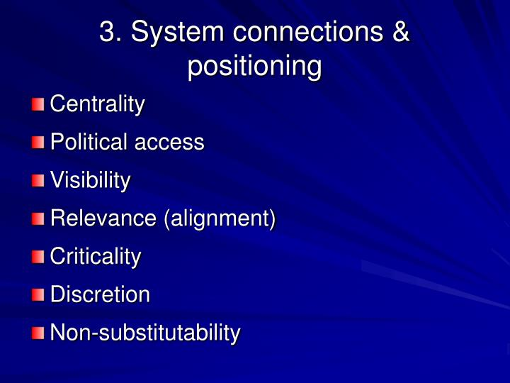 3. System connections & positioning