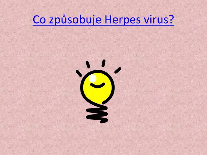 Co způsobuje Herpes virus?