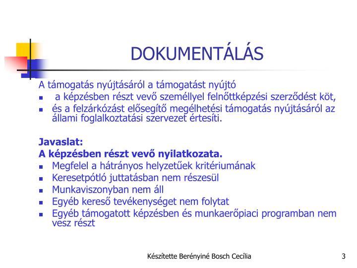 DOKUMENTÁLÁS