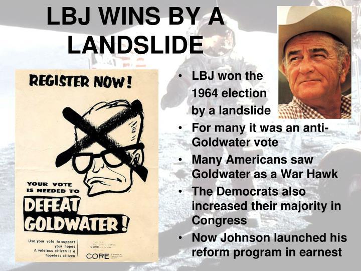 LBJ WINS BY A LANDSLIDE