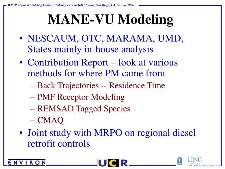 NESCAUM, OTC, MARAMA, UMD, States mainly in-house analysis