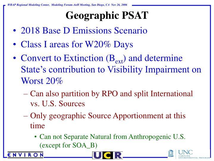 Geographic PSAT