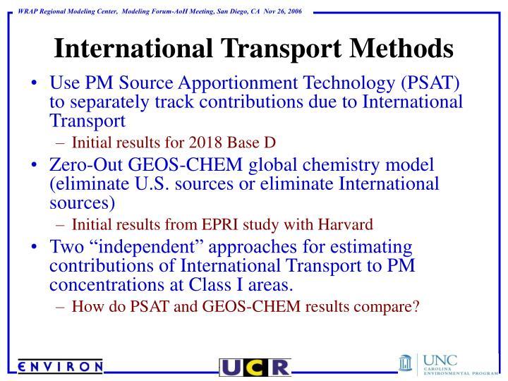 International Transport Methods