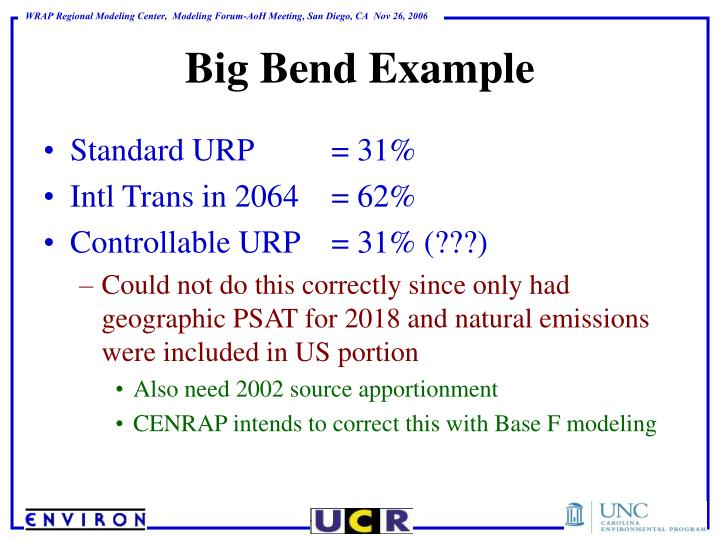Big Bend Example