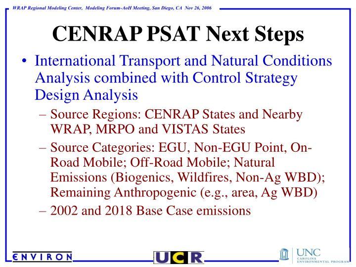 CENRAP PSAT Next Steps
