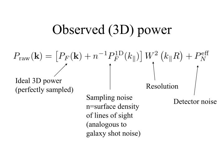 Observed (3D) power
