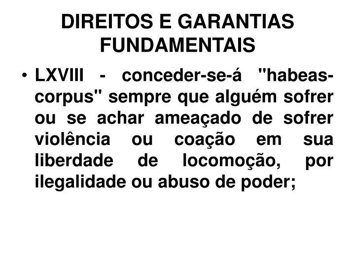 DIREITOS E GARANTIAS