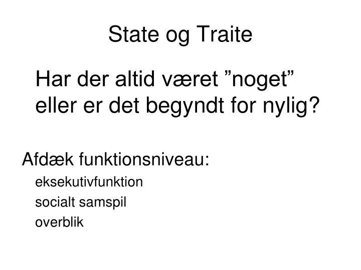 State og Traite