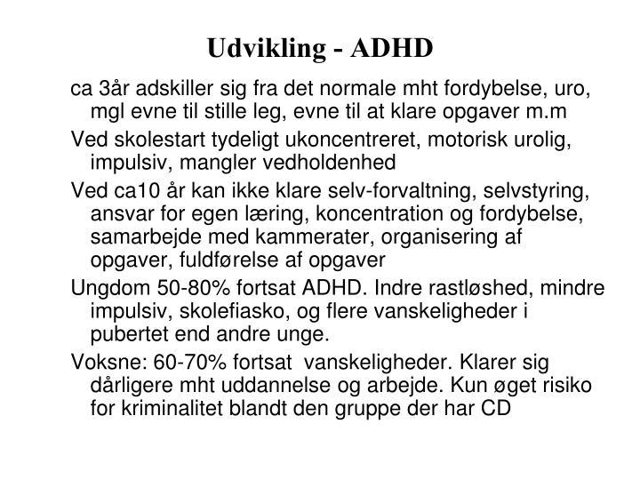 Udvikling - ADHD