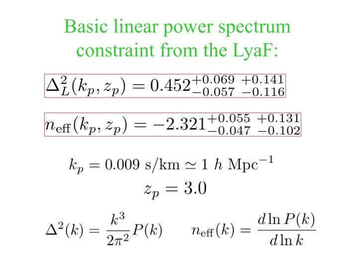 Basic linear power spectrum constraint from the LyaF:
