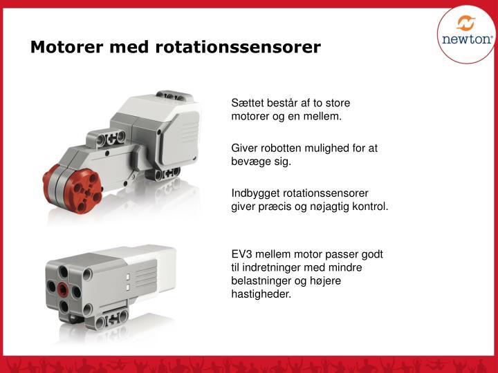 Motorer med rotationssensorer