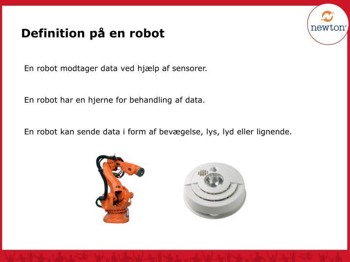 Definition på en robot
