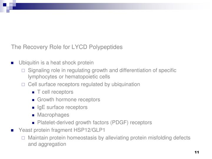 The Recovery Role for LYCD Polypeptides