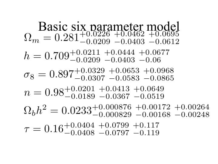 Basic six parameter model